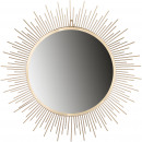 wholesale Decoration: Metal mirror Pyro for hanging, D53cm, gold